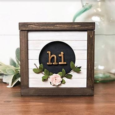 Hi Pocket Frame-Interchangeable Sign