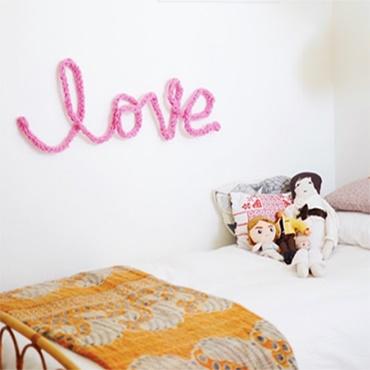 Yarn Word Wall Art