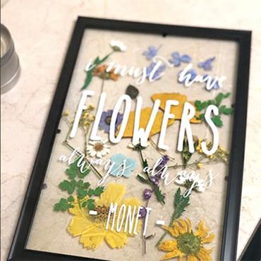 Pressed Flower Floating Frame