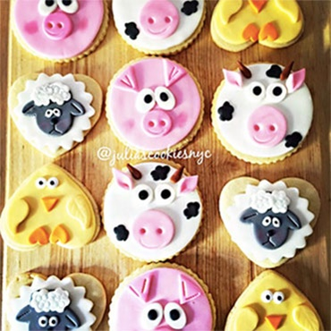 Cute Farm Animal Cookies
