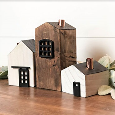 Wood Block Houses