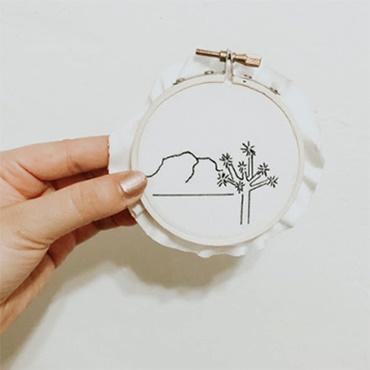 Joshua Tree Embroidery